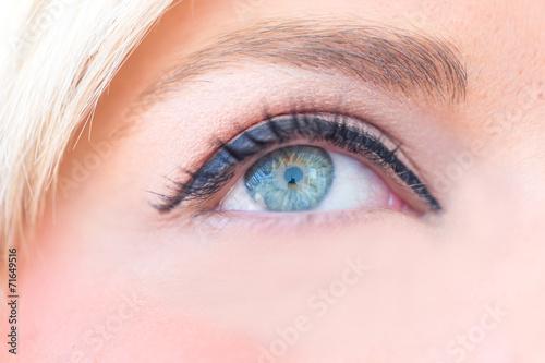 canvas print picture Das menschliche Auge