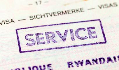 Stamp in the old belgian passport