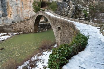 Traditional stone bridge in Epirus, Greece