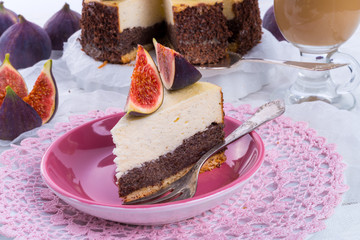 with figs poppy seed cheesecake