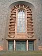 Leinwanddruck Bild - Eingangsportal Herz-Jesu-Kirche in BOTTROP