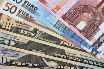 Fanned Out Currencies