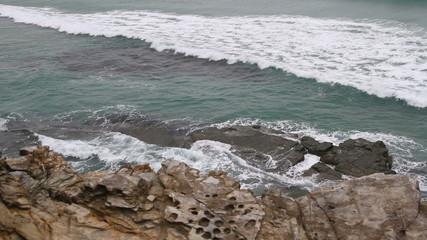 Costa del mar Cantábrico en Lugo. Galicia. Norte de España