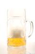 canvas print picture - Bierkurg ist fast leer