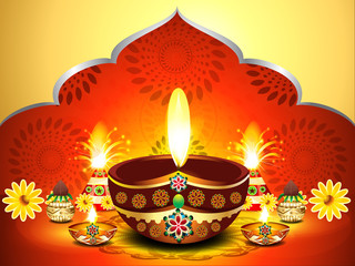 vector illustration of  diwali background