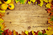 Thanksgiving Autumn Fall background with red, brown and yellow l