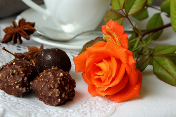 Rosebud and sweets.