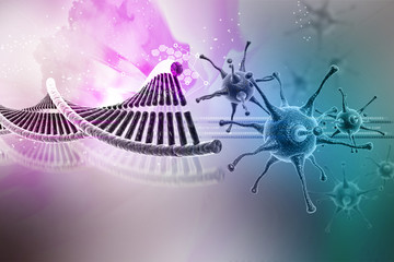 Virus with dna stucture