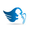 Angel logo vector design - 71653142