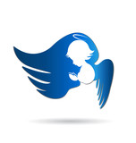 Fototapety Angel logo icon vector