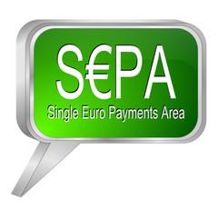 SEPA - Single Euro Payments Area - Sprechblase