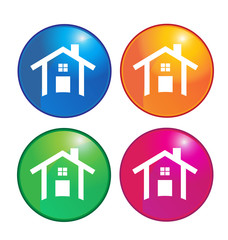 Houses icons logo vector