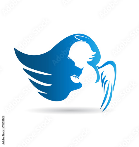 Fototapeta Angel logo vector design