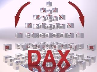 DAX 3D Recession Concept