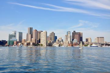 Boston City Skyscrapers, Custom House and Waterfront, Boston