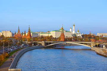 Kremlin on sunset in Moscow Russia