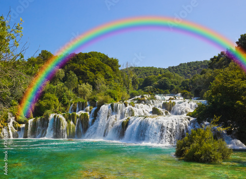Waterfall KRKA in Croatia - 71653938