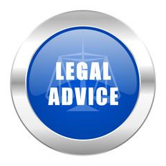 legal advice blue circle chrome web icon isolated