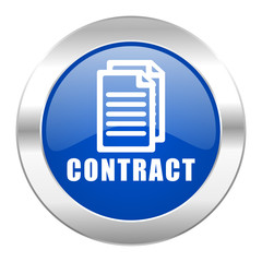 contract blue circle chrome web icon isolated