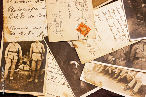 Fototapeta old photoes and postcards