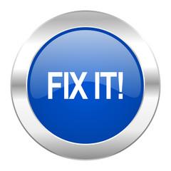 fix it blue circle chrome web icon isolated