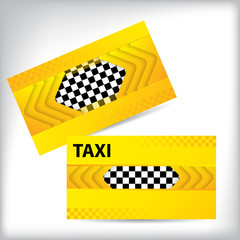 Abstract taxi business card design
