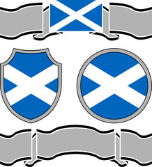 Flag of scotland with banners