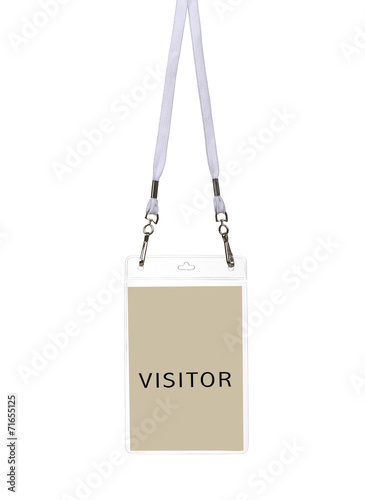 canvas print picture Security ID Pass for visitor
