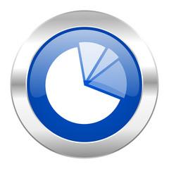 diagram blue circle chrome web icon isolated