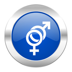 sex blue circle chrome web icon isolated