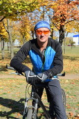Smiling bicyclist