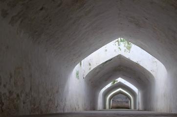 the underground walkway tunnel, taman sari water castle
