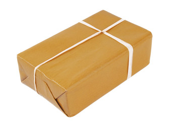 package brown isolated on white
