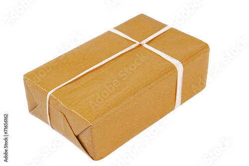 package brown isolated on white - 71656162