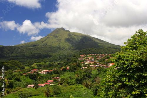 Papiers peints Caraibes La Montagne Pelée