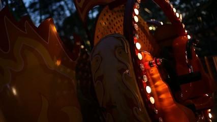 night lighting in the amusement park