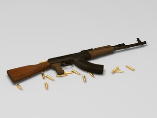 AK47 with ammo