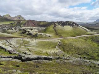 Cratère moussu au Landmannalaugar