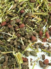 herbal granule for horses background