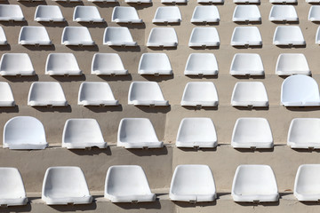 Seats of outdoor stadium