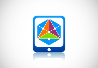 geometry triangle color abstract vector logo
