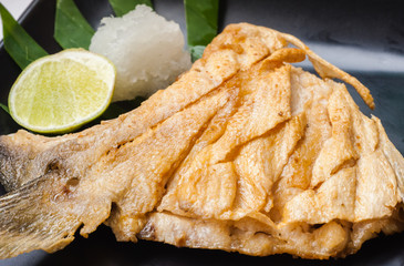 japanese cuisine  Grilled fish's cheeks