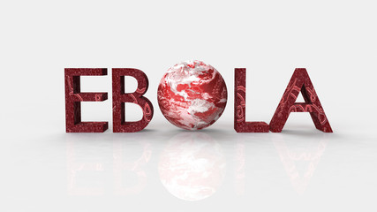 Ebola concept word cloud background