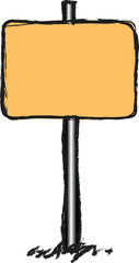doodle blank traffic sign