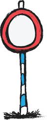 doodle arrow traffic sign