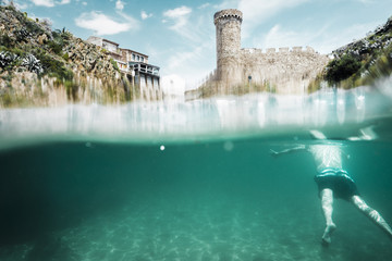 Castle of Tossa from the water, Costa Brava