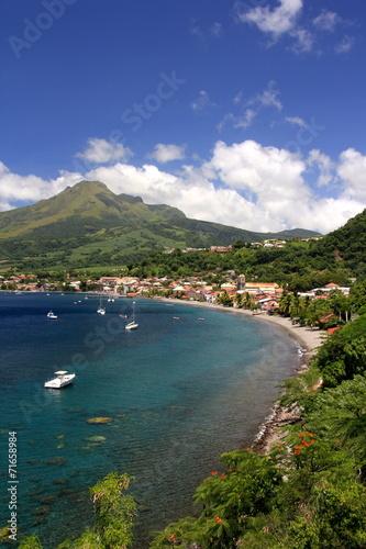 Leinwanddruck Bild Ville de Saint Pierre - Martinique