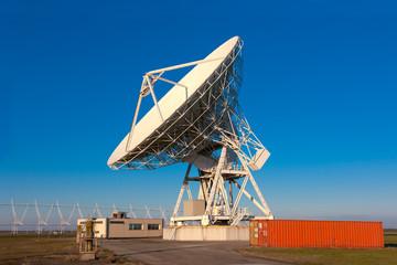 VLA Very Large Array radio telescope dishes facing up
