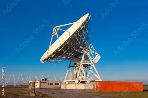Plexiglas VLA Very Large Array radio telescope dishes facing up