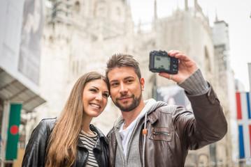 selfie in the center of milan